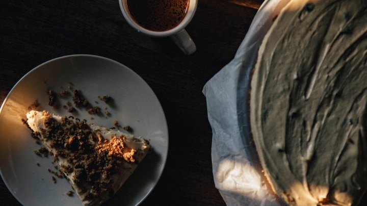 #RicetteinGranelli · Cheesecake al burro d'arachidi
